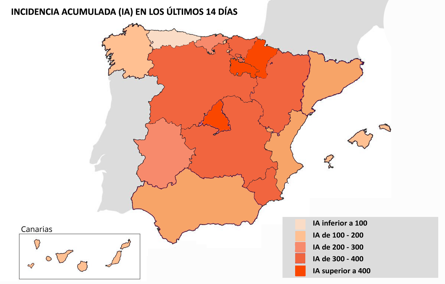 Mapa del coronavirus en España: así avanza la pandemia según el nivel de riesgo