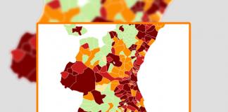 Los cuatro barrios de Valencia con más vecinos contagiados