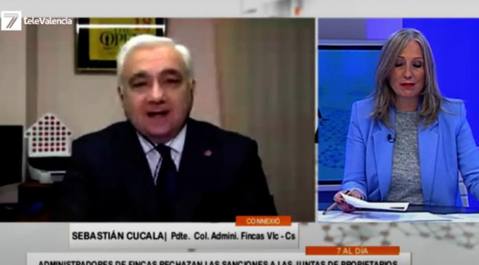 Sebastián Cucala muestra su preocupación ante las sanciones a Juntas de Propietarios