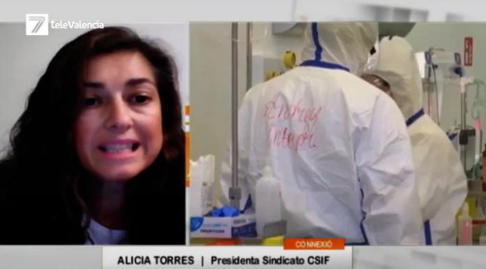 """Alicia Torres (CSIF): """"La situación empieza a ser muy preocupante en los hospitales valencianos"""""""