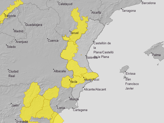Valencia estará dos días en alerta amarilla por temporal