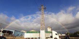La borrasca Dora deja un arcoíris perfecto sobre el cielo de Valencia