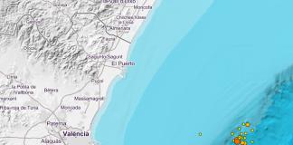 El Golfo de Valencia tiembla por los 22 terremotos producidos esta madrugada