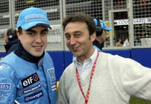 Fernando Alonso, junto a Adrián Campos. RV Racing Press