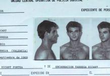 Ficha policial de Miguel Ricart. / EFE
