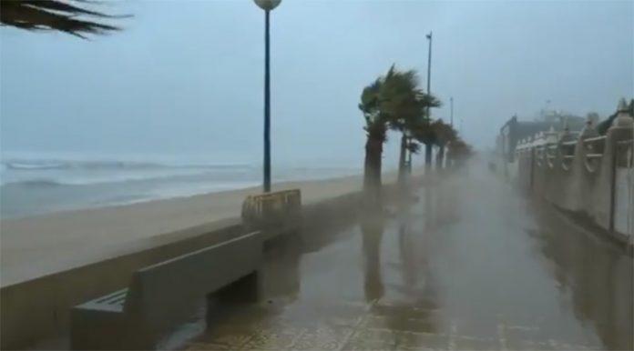 viento de poniente del temporal Hortensia