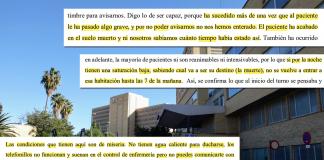 """Una enfermera revela el drama de la antigua Fe: """"Tengo pacientes que han pedido que los matara"""""""