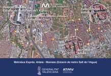 """La nueva línea """"Metrobus Express"""" conectará Aldaia con el Metro y el Hospital de Manises"""