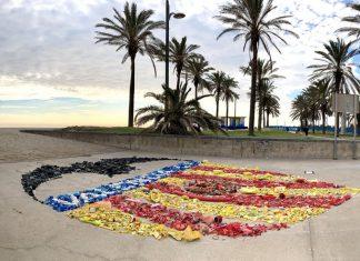 escudo del Valencia CF con escombros