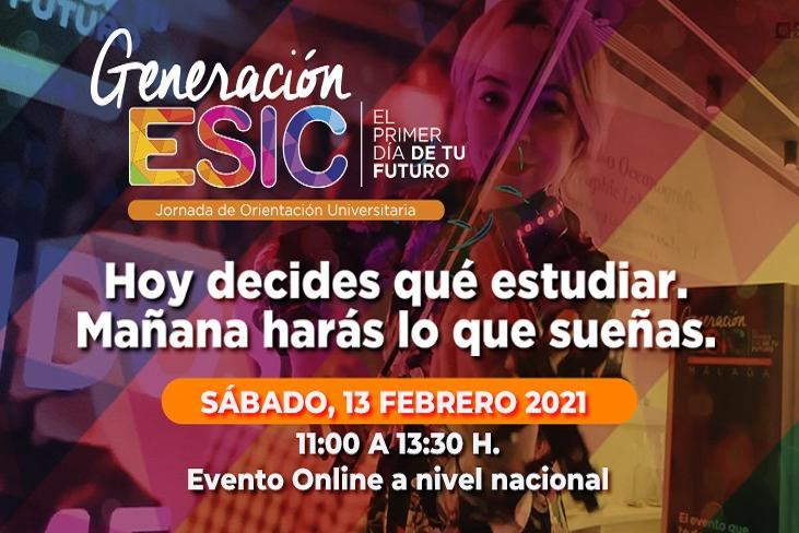 Generación ESIC se celebrará el día 13 de febrero de forma telemática