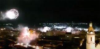 castillo de fuegos artificiales Xàtiva