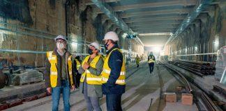 Dos túneles subterráneos conectarán tres paradas de Metrovalencia