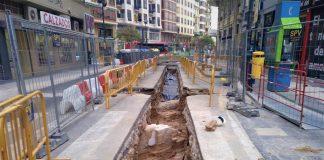 Las obras del entorno de la Lonja sacan a la luz pavimentos históricos de Valencia