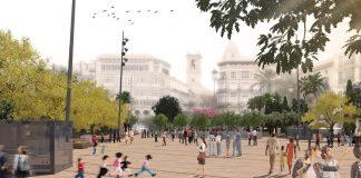 La plaza de la Reina será un espacio peatonal dentro de doce meses