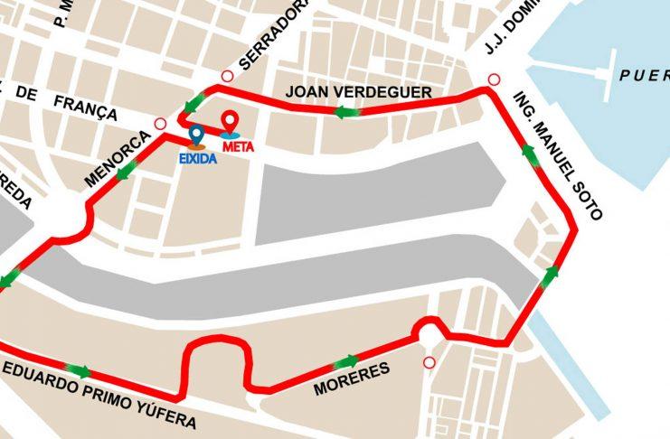 Calles cortadas en Valencia este domingo por una carrera