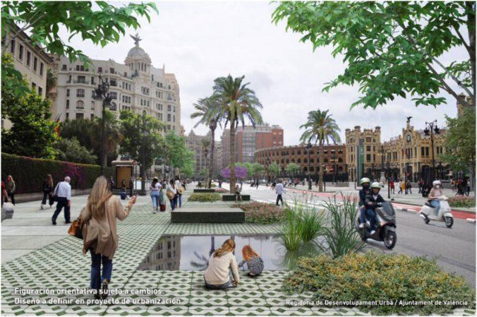 Así lucirá Valencia en los próximos años: menos carriles y más zonas para peatones