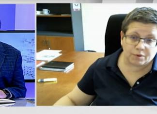 Momento del debate entre Isabel Garcia y Vicent Ibor