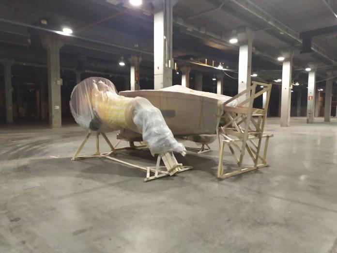 Una falla se queda olvidada en Feria València