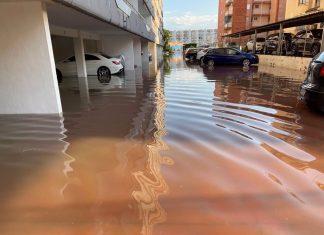 Una lluvia torrencial descarga 180 litros de golpe en Sagunt y Canet