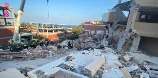 Entran en sus viviendas los vecinos de los edificios colidantes al que se derrumbó en Peñíscola