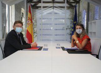 Yolanda Díaz reconoce la infrafinanciación de la Comunitat y corrige a Calviño