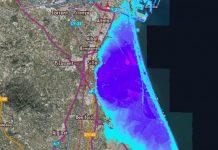 Un visor cartográfico predice la desaparición de la Albufera en 2100