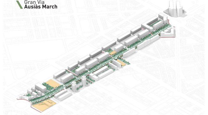 Diseño de la peatonalización de la avenida Ausiàs March de Valencia.
