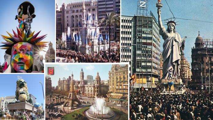 GALERÍA   Las fallas municipales más emblemáticas de Valencia en los últimos 70 años