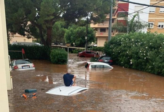 Alerta naranja en Valencia por fuertes lluvias y tormentas con granizo