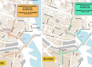 Valencia cortará calles todo el fin de semana para celebrar el Campeonato de Europa de Triatlón