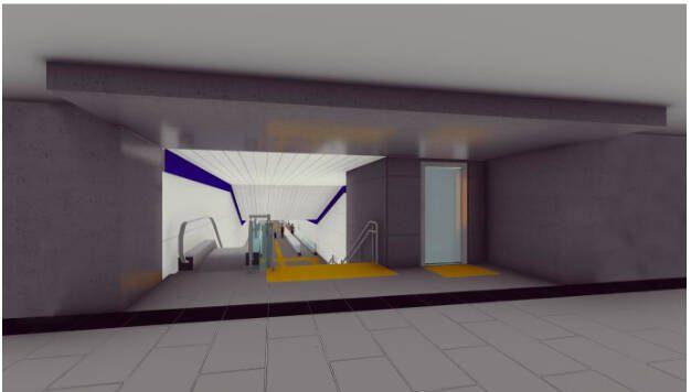 escaleras mecánicas túnel metrovalencia