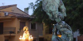 La imagen peregrina visita el municipio cuna de la pilota valenciana