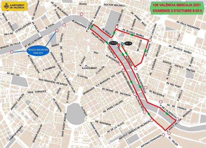 Valencia se cierra al tráfico por la 10K: horarios y calles cortadas