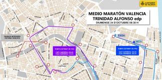 Calles cortadas, horarios y recorrido para el Medio Maratón de Valencia